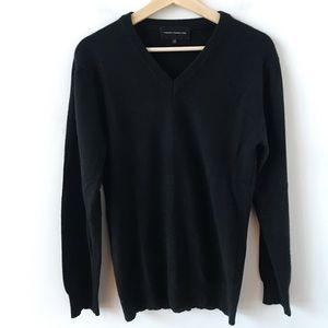 French Connection black cashmere sweater
